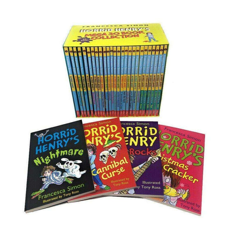 Horrid Henrys Mega 30 Books Collection Set By Francesca Simon