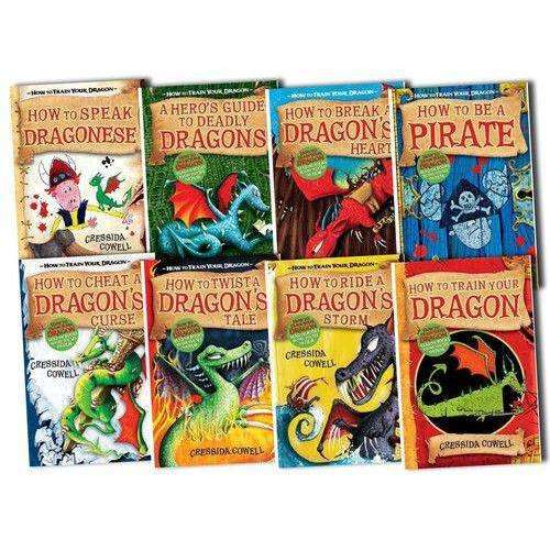 How to Train Your Dragon Collection 8 Books Box Set Cressida Cowell