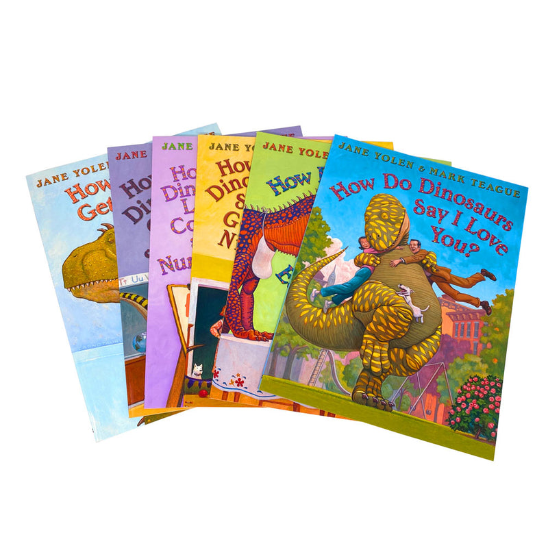 How Do Dinosaurs Collection 6 Books Collection Set Get Well Soon Say I Love You