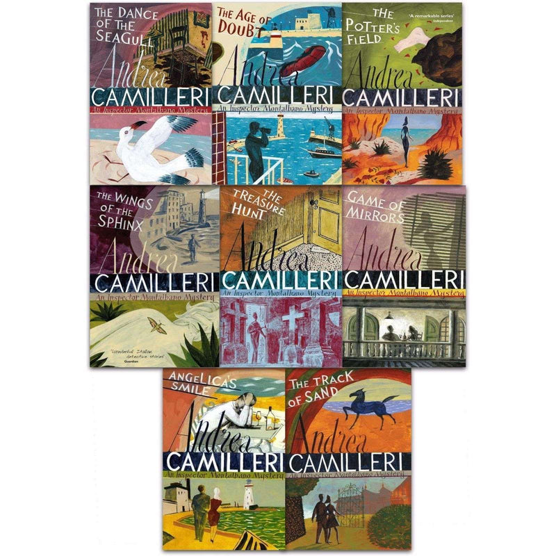 Inspector Montalbano 8 Books Set Collection by Andrea Camilleri  (Book 11-18) Series 2