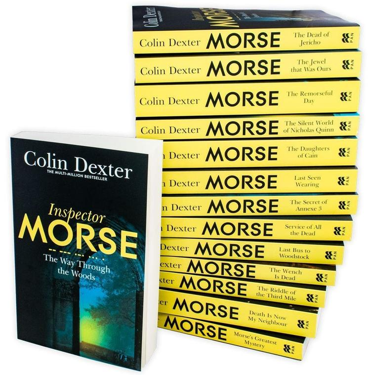 Inspector Morse Mysteries Series Collection Colin Dexter 14 Books Set Last Bus