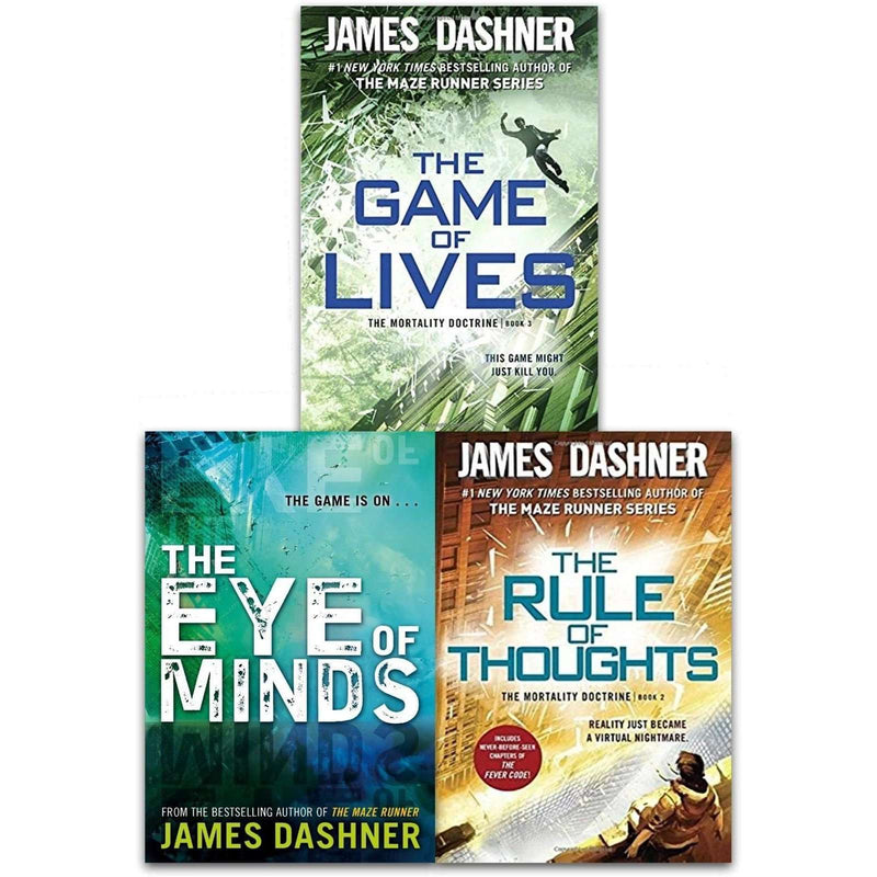 James Dashner The Mortality Doctrine 3 Books Collection Set Pack Game of Lives