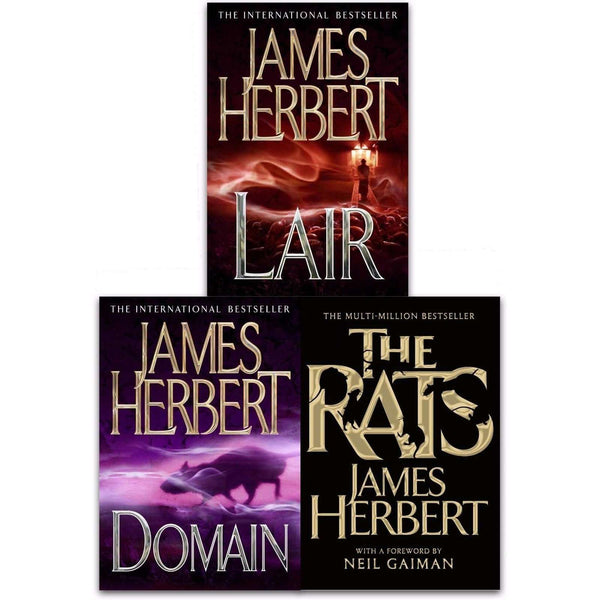 James Herbert The Rats Trilogy Collection 3 Books Set Pack Domain, Lair, The Rat
