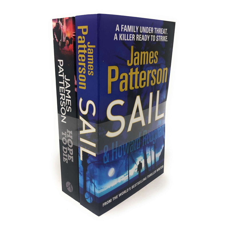 James Patterson 2 Book Set Collection Inc Sail and Hope To Die