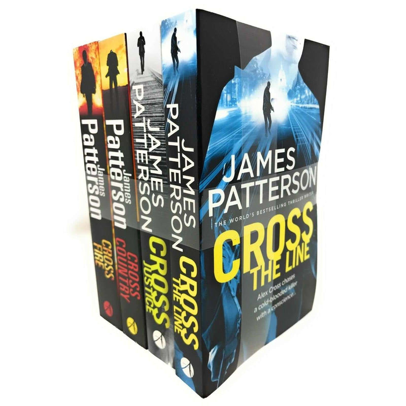 James Patterson 4 Book Set Cross Series Collection Inc Cross The Line,Cross Fire