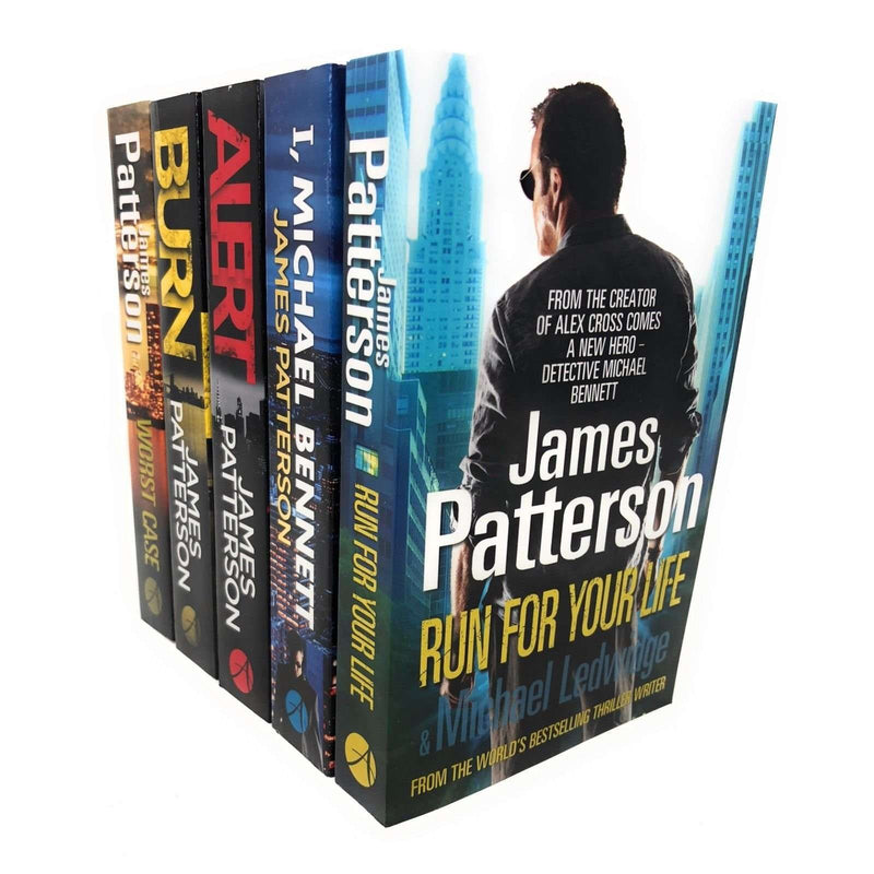 James Patterson 5 Books Set Collection, Run For Your Life, Alert, Burn