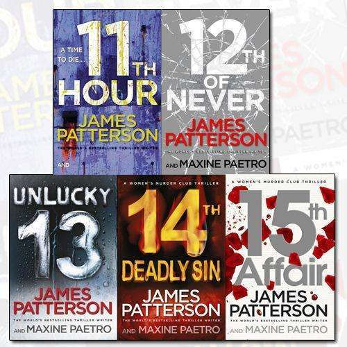 James Patterson Collection Women's Murder Club Series 3-5 Books Set 11th Hour