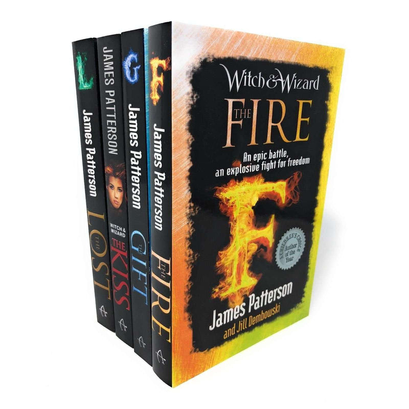 James Patterson Witch & Wizard Collection 4 Books Set, The Fire, The Kiss