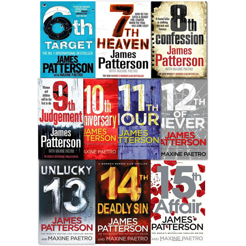 James Patterson Womens Murder Club Collection 10 Books Set (6-15) 6th Target