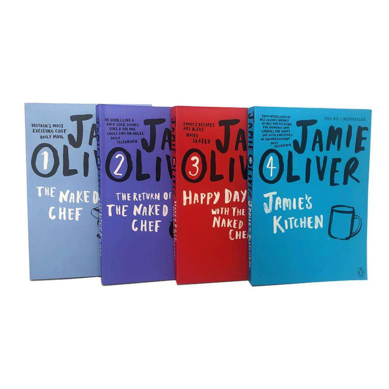 Jamie Oliver Collection 4 Books Set The Return of the Naked Chef Paperback