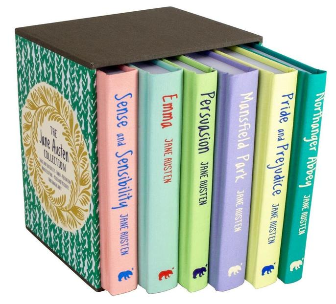 Jane Austen Collection Deluxe Cloth Hardcover 6 Books Box Set