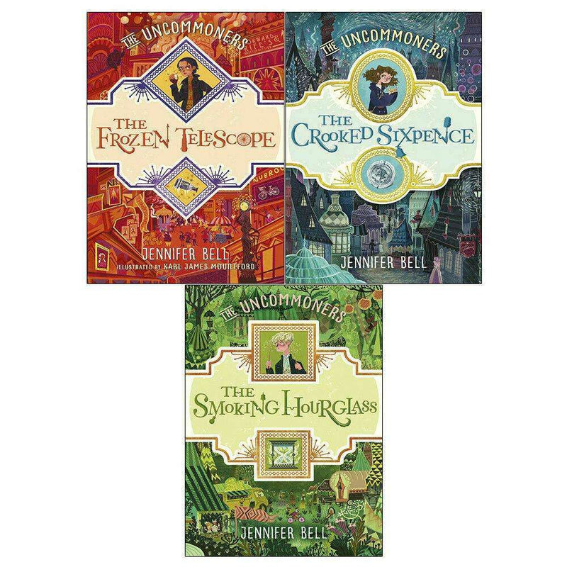 Jennifer Bell 3 Books Set Collection The Uncommoners Smoking Hourglass