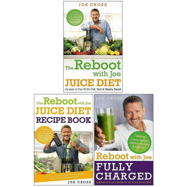 Joe Cross The Reboot with Joe 3 Books Collection Set Reboot with Joe Juice Diet