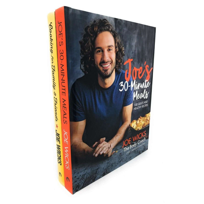 Joe Wicks 2 Books Set Collection 30 Minute Meals, Cooking For Family & Friends