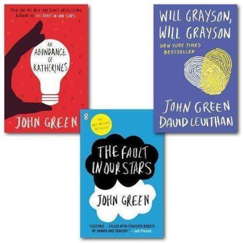 John Green Collection 3 Book Set Fault In Our Stars, Abundance of Katherines