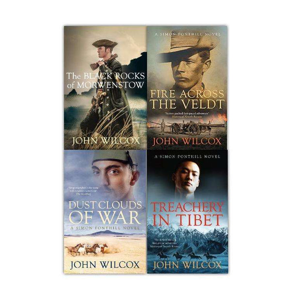 John Wilcox 4 Books Set Collection, The Simon Fonthill Series, Black Rocks ...