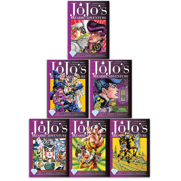 Jojo's Bizarre Adventure Part 4 Diamond Is Unbreakable Vol 1-6 Collection 6 Books Set
