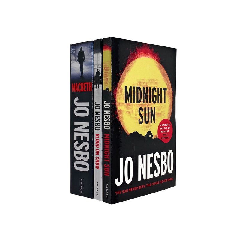 Jo Nesbo 3 Books Collection Set Harry Hole Thriller Collection Inc Midnight Sun