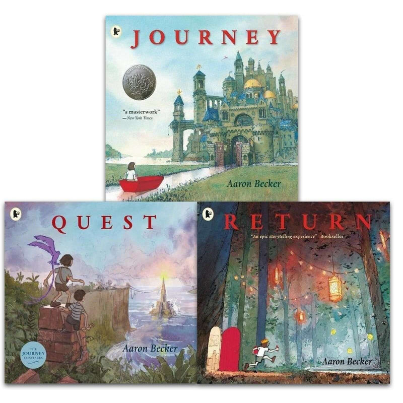 Journey Trilogy Aaron Becker Collection 3 Books Set Pack- Journey, Quest, Return