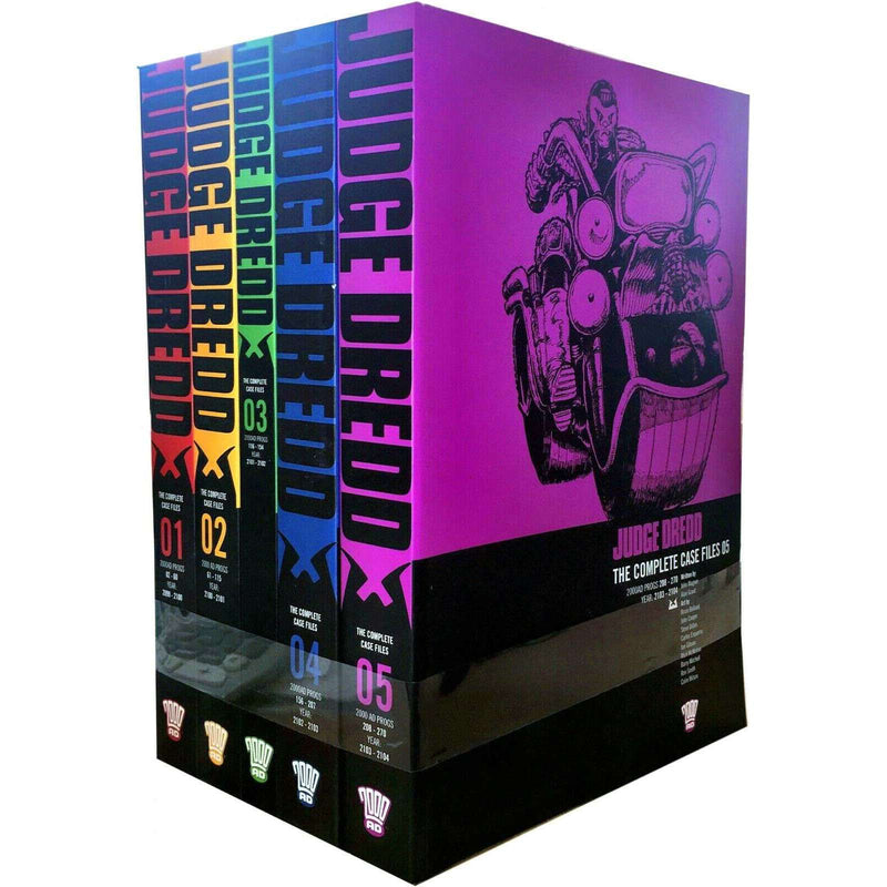 Judge Dredd: Complete Case Files Volume 1-5 Collection 5 Books Set (Series 1) By John Wagner