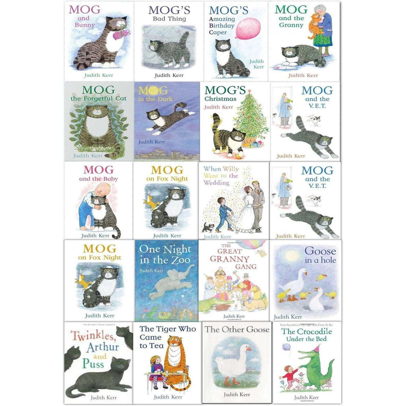 Judith Kerr Mog the Forgetful Cat Collection 18 Books Set Mog Christmas