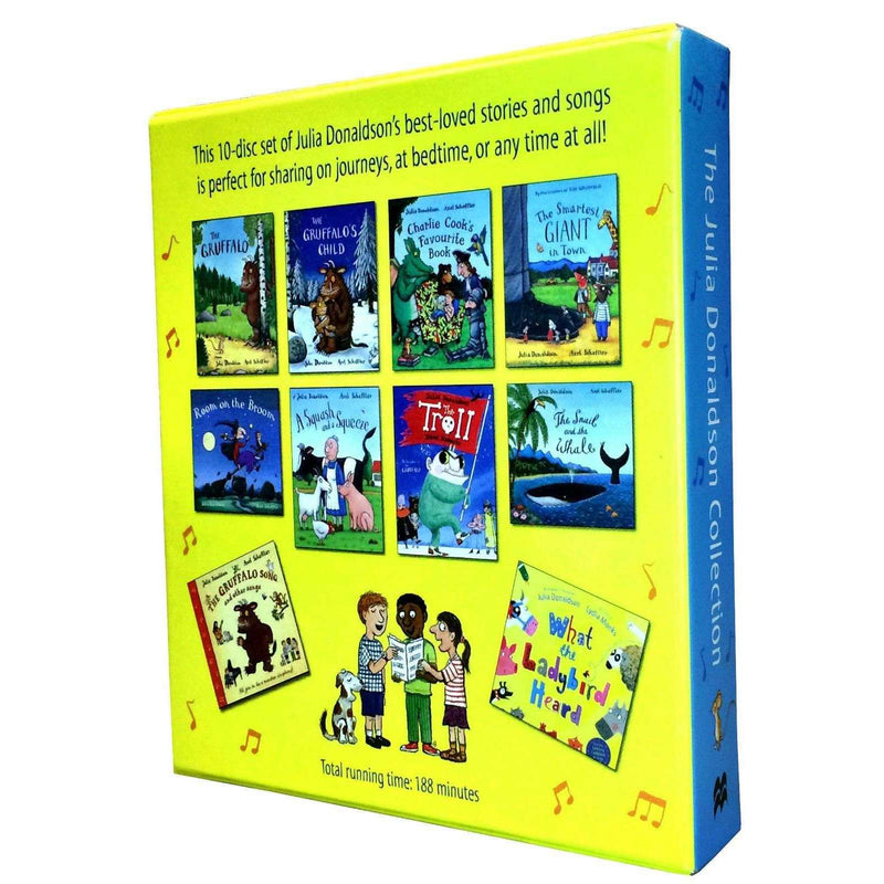 Julia Donaldson Collection 10 Audio CD Books Set Stories & Songs Gruffalo, Child