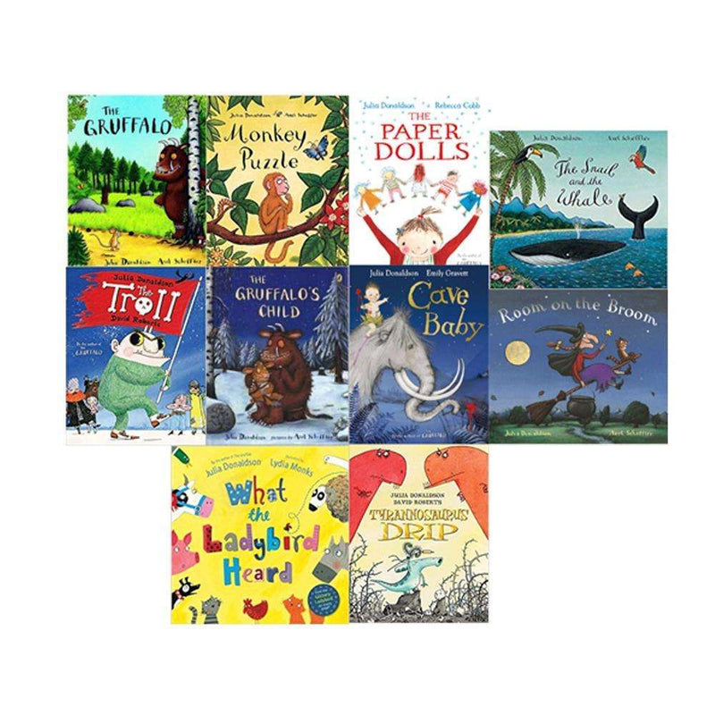 Julia Donaldson Gruffalo Collection 10 Books Set School Picture Flats
