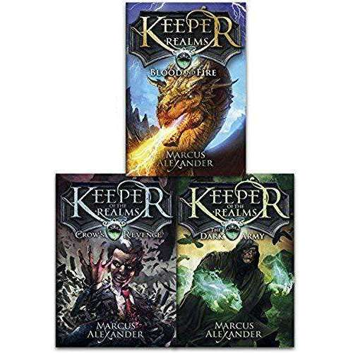 Keeper Of The Realms 3 Books Set By Marcus Alexander (Crow's Revenge,Bloodfire..