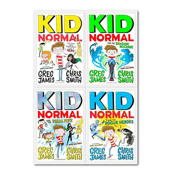 Kid Normal Series 4 Books Collection Set By Greg James and Chris Smith