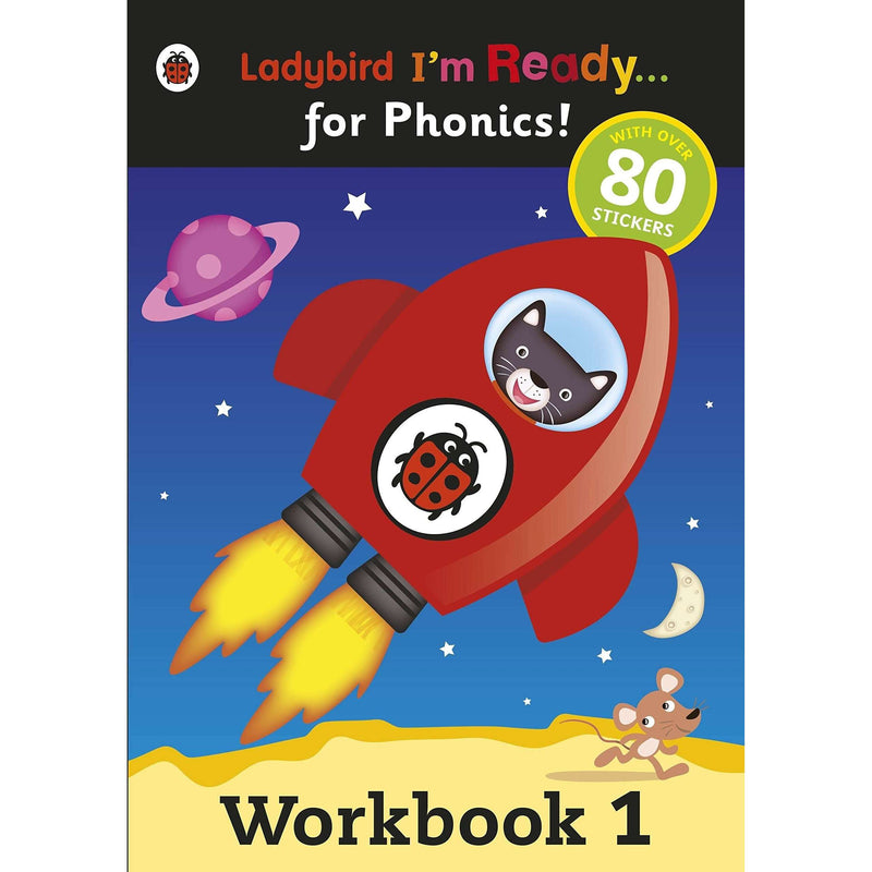 Ladybird Phonic Readers 8 Book Set Collection - Activity Workbooks