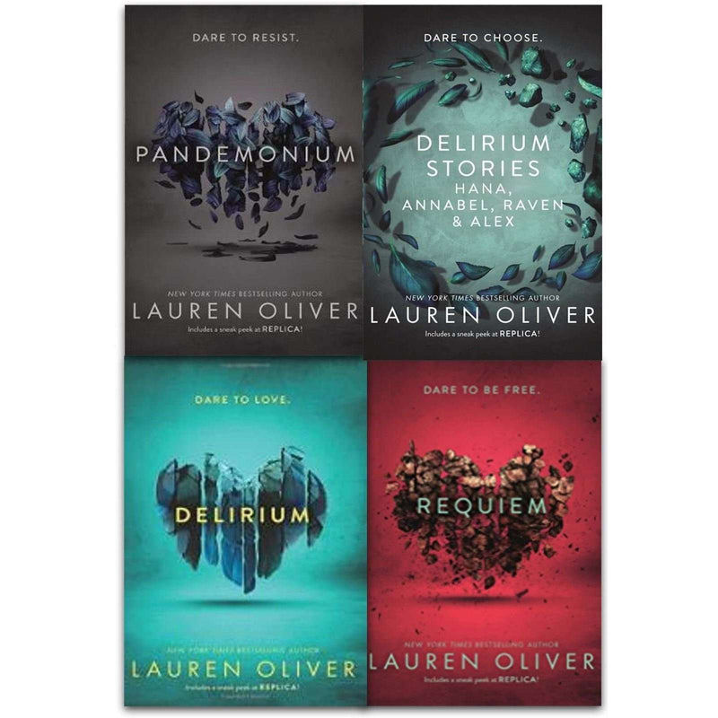 Delirium Series The Complete 4 Books Collection Box Set By Lauren Oliver