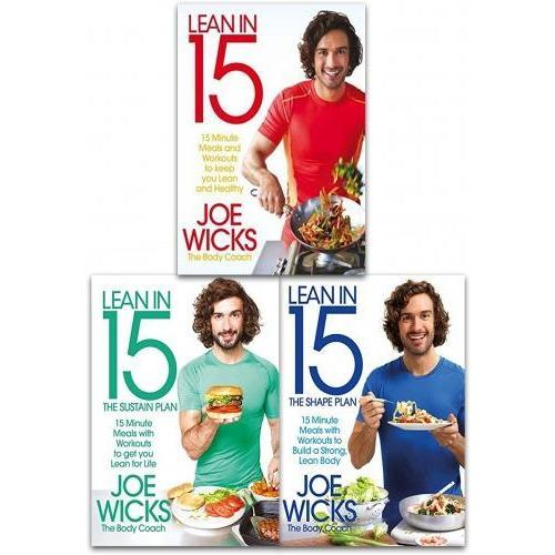 Lean in 15 Collection Joe Wicks 3 Books Set Sustain Plan, Shape Plan, The Shift Plan