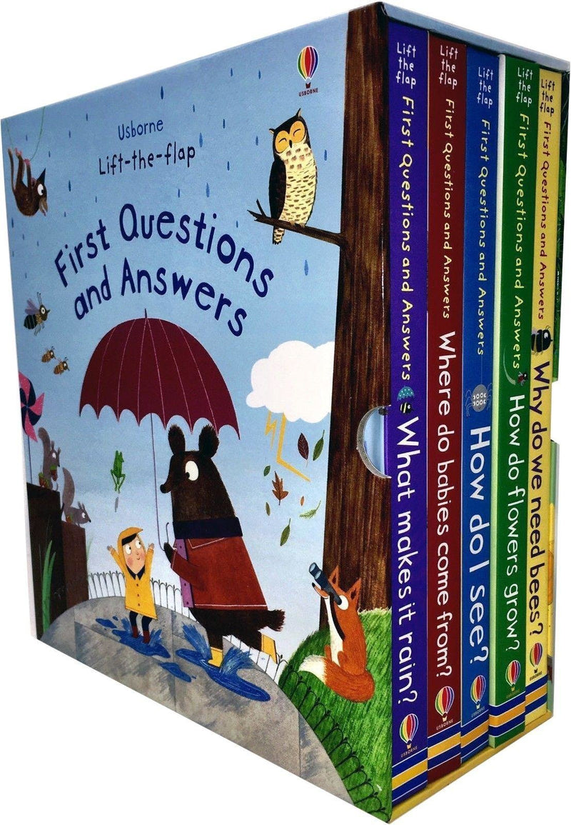 Usborne Lift the flap, First Questions and Answers 5 books box set collection