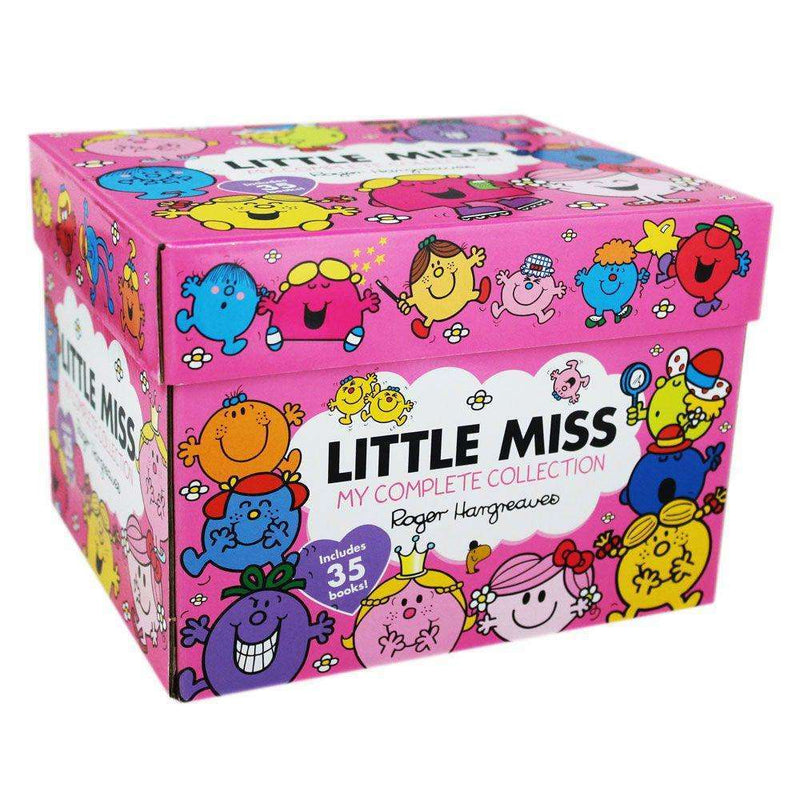 Little Miss x 35 Books Collection Box Boxed Set Roger Hargreave (Mr Men Series)