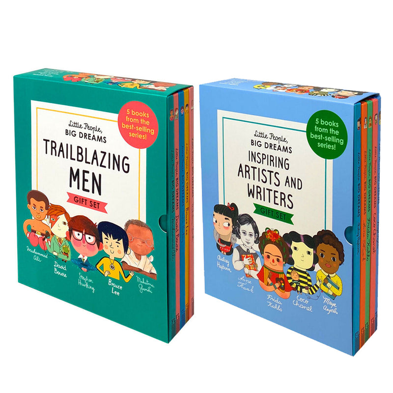 Little People, Big Dreams 10 Books Box Set Artists And Writers, Trailblazing Men