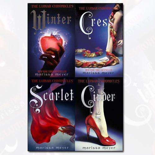 Marissa Meyer Lunar Chronicles Series 4 Books Collection Set - Cinder, Scarlet
