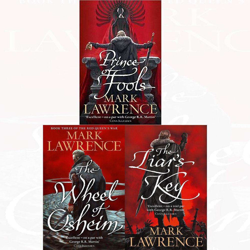 Mark Lawrence Red Queen's War 3 Books Set Collection Prince Of Fools, Liar's Key
