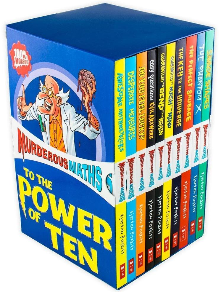 Murderous Maths 10 Books Collection Box Set Poskitt Kjartan Horrible Series