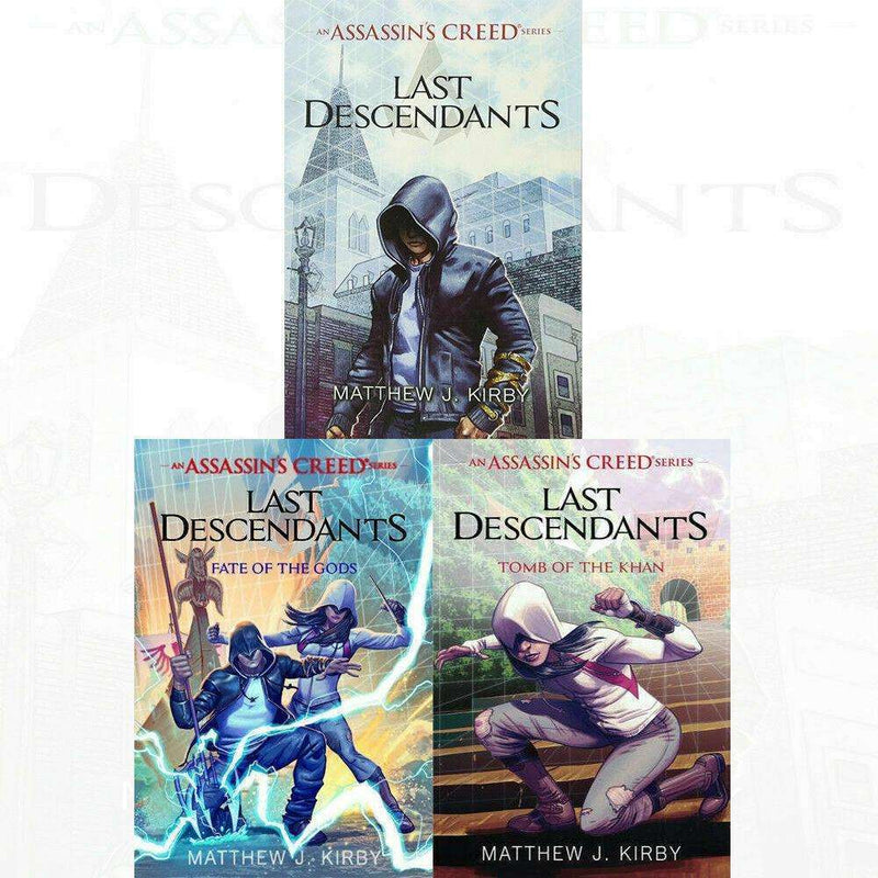 Matthew J. Kirby Assassin's Creed Series Collection 3 Books Set Last Descendant