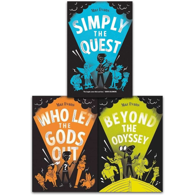 Maz Evans Who Let the Gods Out Series 3 Books Collection Set Simply the Quest