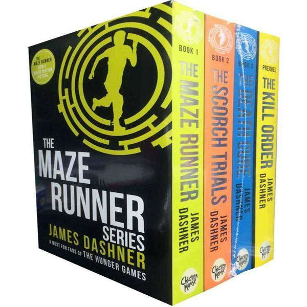 Maze Runner 4 books Set Collection Series by James Dashner