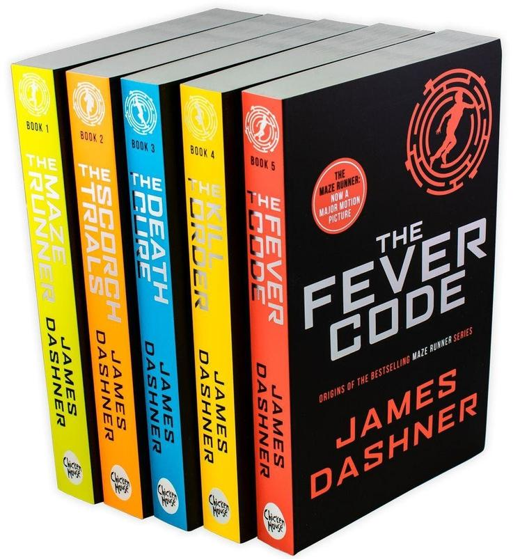 Maze Runner Series James Dashner 5 Books Set The Death Cure , Scorch Trials