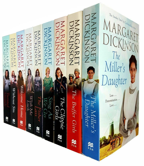 Margaret Dickinson 8 Books Collection Set Pack Millers Daughter, Buffer Girls