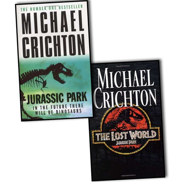 Michael Crichton Jurassic Park 2 Books Set Collection The Lost World