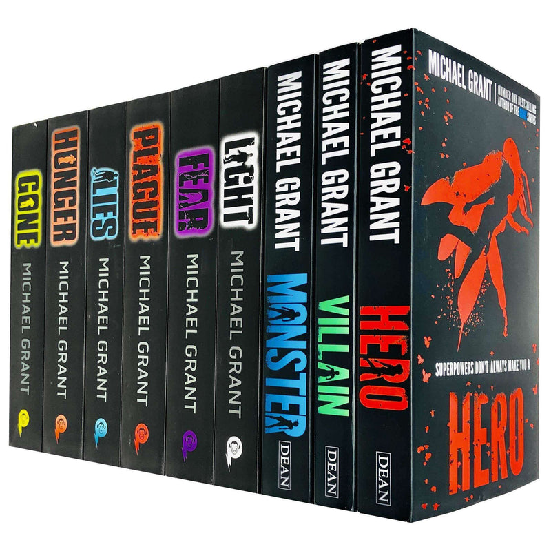 Michael Grant 9 Books Collection Set Gone Series and Monster Series  Inc Hero, Villain, Monster