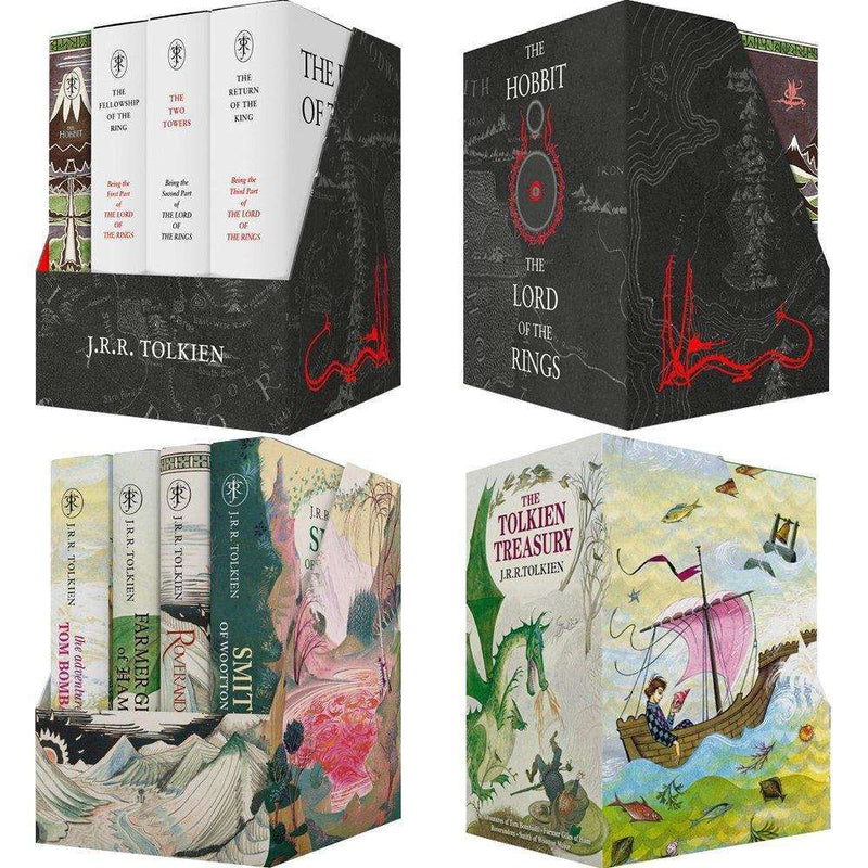 Middle earth treasury and Tolkien Treasury 8 books boxed set collection J. R. R. Tolkien