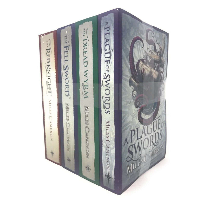 Miles Cameron 4 Books Set Collection, Plague Of Swords, Dread Wyrm, Red Knight