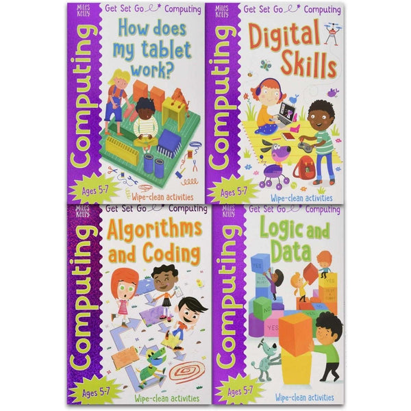 Miles Kelly Computing Collection 4 Books Set Logic, Data, Digital Skill, Coding