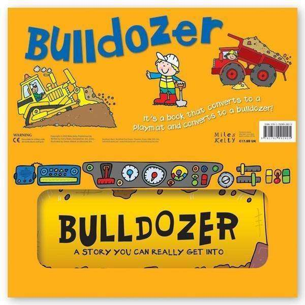 Miles Kelly Convertible Bulldozer 3 in 1 Book Playmat and Toy for Children