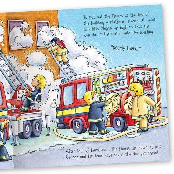 Miles Kelly Convertible Fire Station 3 in 1 Storybook Building and Playmat